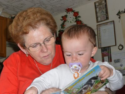 je lis avec ma mamilyne