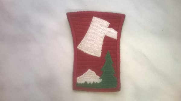 Nouvelle rentrée patch de la 70 th Infantry Division US Original a 100%