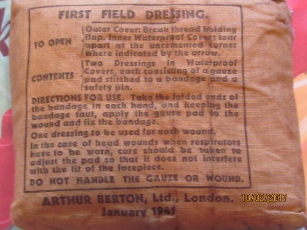 First field dressing UK