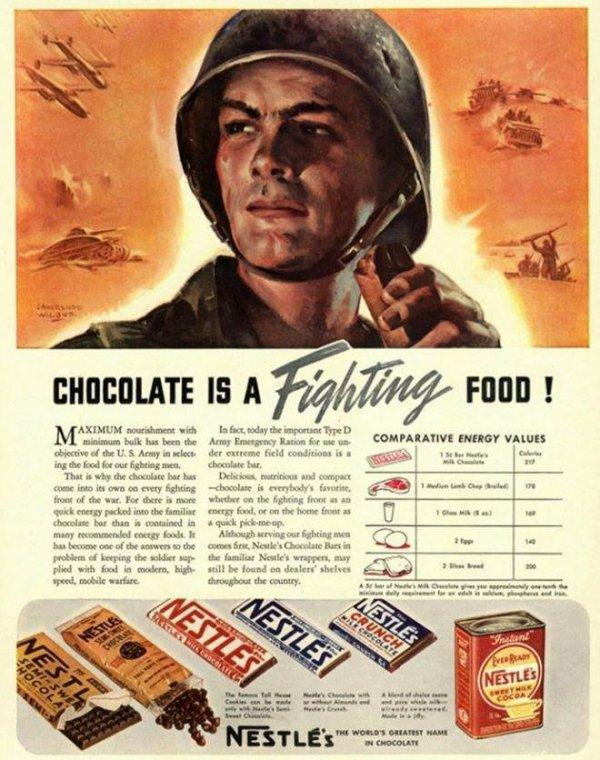 Voici un bel explicatif sur le chocolat en temps de guerre
