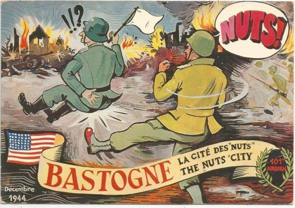 Bastogne : une carte postale vintage des années
