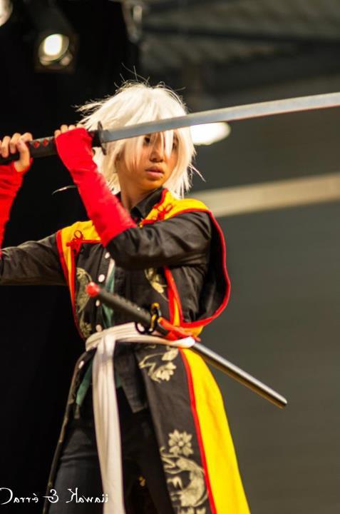 Cosplay Okita Souji de Hakuouki Shinsengumi Kitan