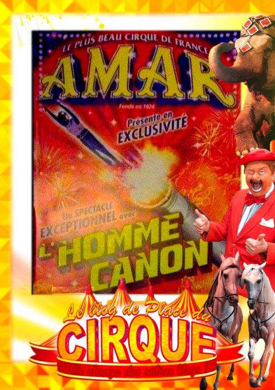 Affichette 2014 du cirque amar avec l'homme Canon !