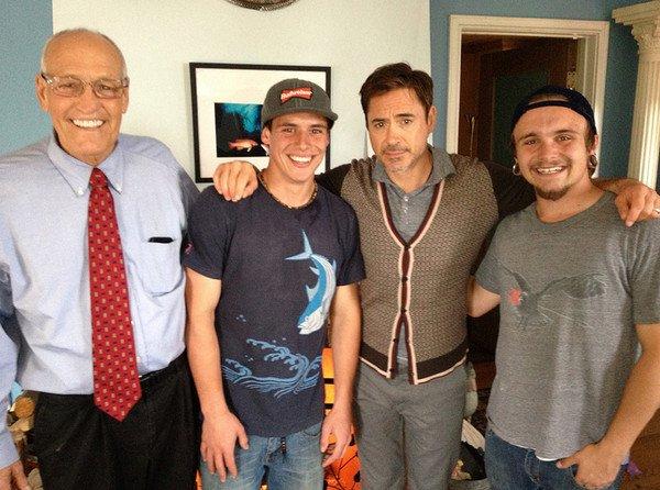 Robert Downey Jr. Visits Bill Rosendahl