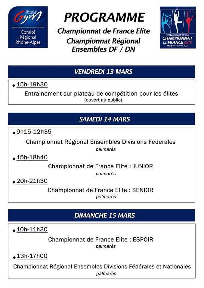 Championnat de France Elite  2015 : J - 3