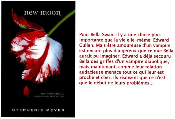 New Moon/Tentation, Stephenie Meyer