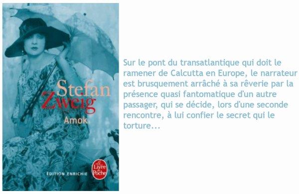 Amok, Stefan Zweig