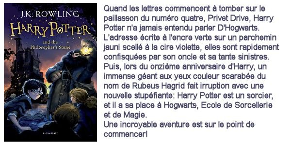 Harry Potter and the Philosopher's Stone/ Harry Potter à l'Ecole des Sorciers, J.K. Rowling