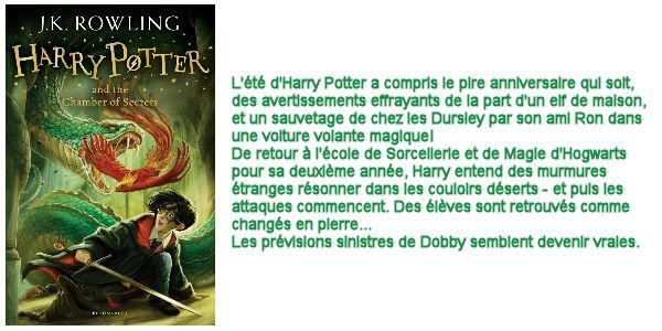 Harry Potter and the Chamber of Secrets/ Harry Potter et la chambre des secrets, J.K. Rowling