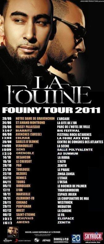 ENCORE DES NOUVELLES DATES SUR MON FRENCH FOUINY TOUR 2011