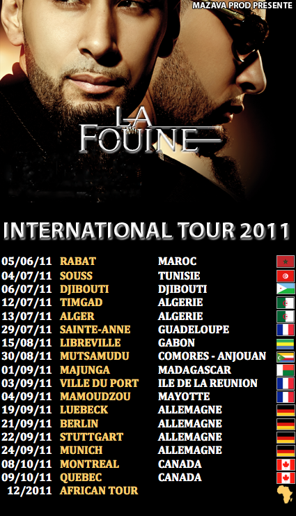 MA TOURNEE INTERNATIONALE