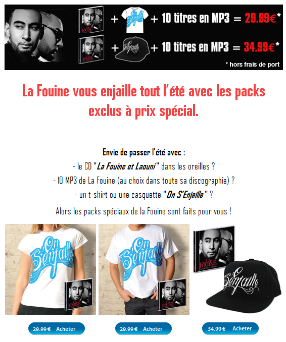 PACKS EXCLUS LA FOUINE