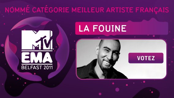 NOMINATION AUX MTV EMA'S