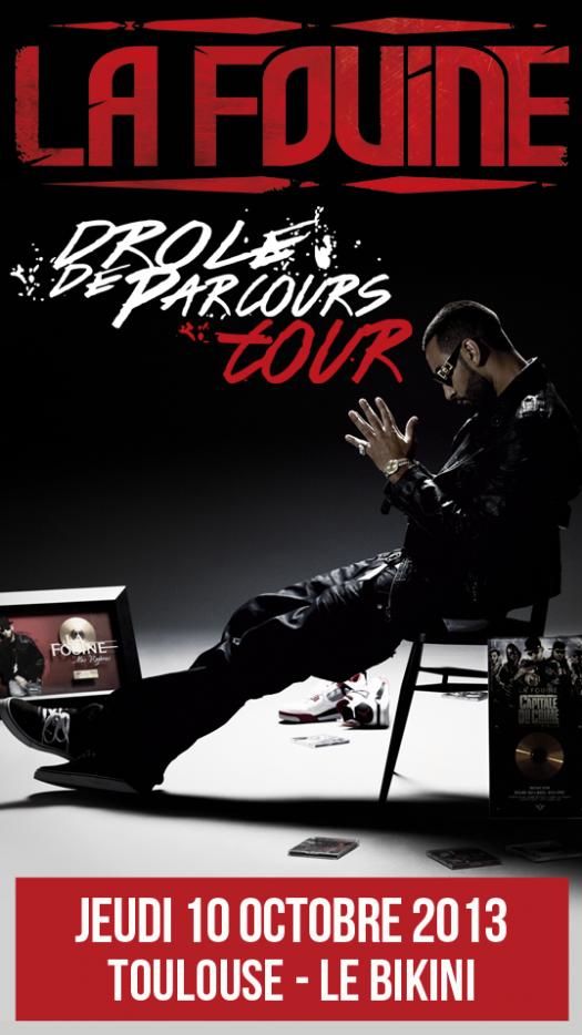 """La Fouine en concert le 10 octobre au """"Bikini"""" à Toulouse"""