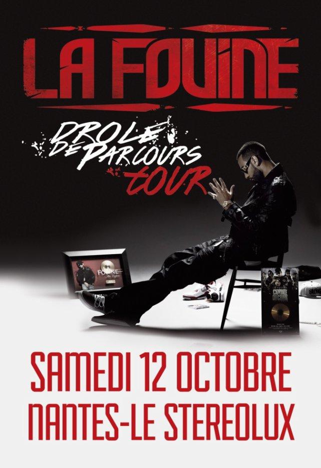 """La Fouine en concert le 12 octobre au """"Stéréolux à Nantes"""