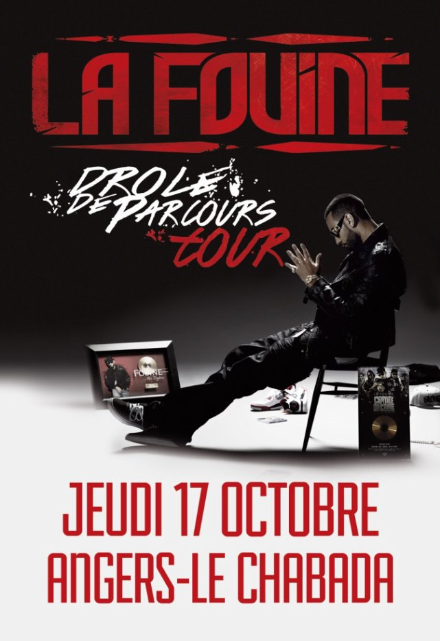 """La Fouine en concert le 17 octobre au """"Chabada"""" à Angers"""