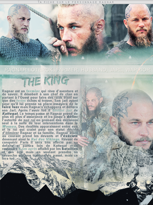 ~ RaidVikings ~ Ragnar Lotbrok   « L'avenir n'est pas gravé. Ayez foi en les Dieux. Et vivez chaque moment. » Lagertha ___________________________________________Création ● Décoration ● newsletter