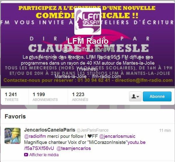 @ Partenaires Radio Team JenParisFrance @ Quelques uns des Tweets diffusion Radios & Articles France (Suite) @