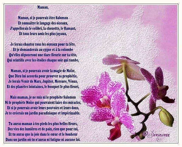 Poeme pour ma mamoune l 39 histoire de ma vie blog officiel de - Au jardin de mon pere les lilas sont fleuris ...