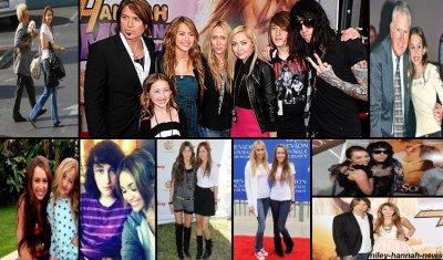 Miley et sa famille.