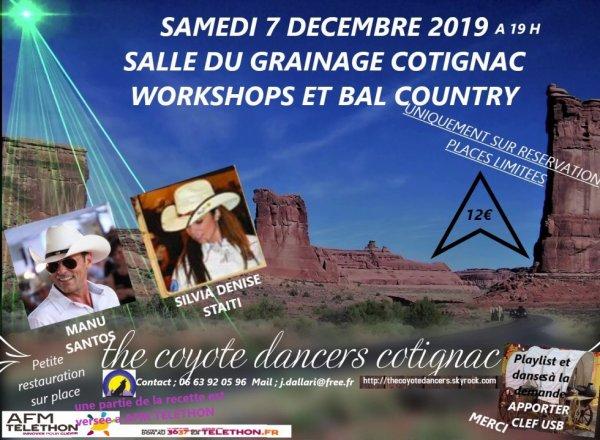 Les COYOTES DANCERS organise une soirée COUNTRY 7 DÉCEMBRE 2019