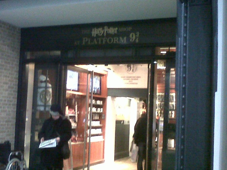 the potter shop à la gare King Cross à Londres
