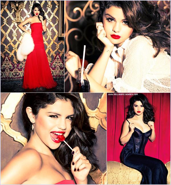 Découvrez ou redécouvrez le photoshoot de Selena fait pour le magazine Glamour pour décembre 2012.