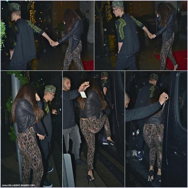 02.12.12 ~ Selena  et son boyfriend Justin sortant du restaurant WolfGang's Steakhouse à Beverly Hills.