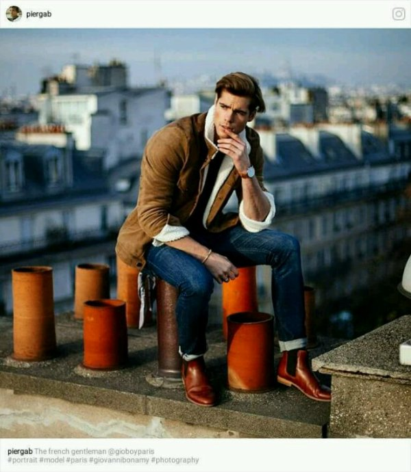 Sur les toits de Paris  .