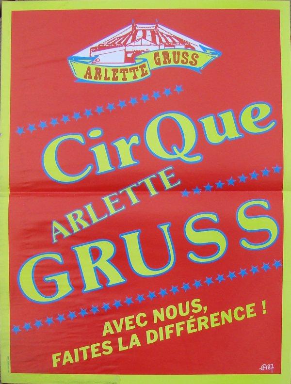 ARLETTE GRUSS EN AFFICHES DE 1986 à 1988