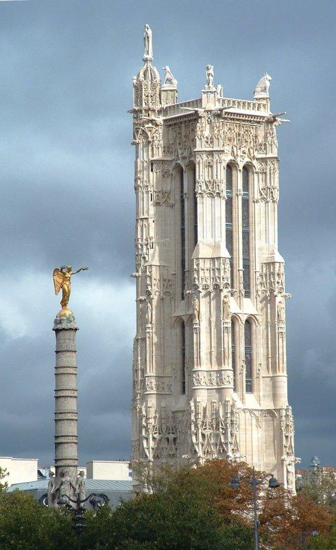 Elly à la tour Saint Jacques [Petit racontage de vie]