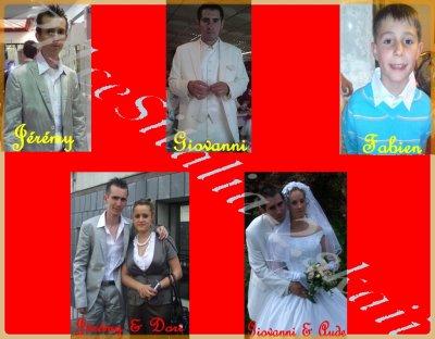 Mes parents, mes frères, leurs chéries et leurs enfants