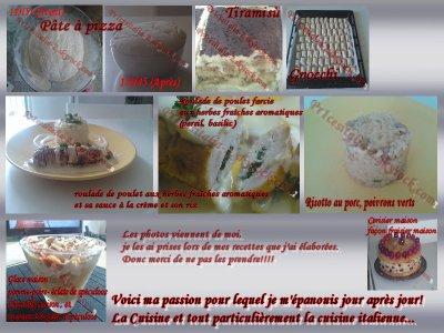 *¤°~> Petit montage de mes créations culinaires <~°¤*