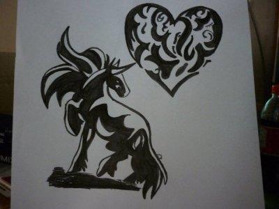 ma passion les chevaux  et le dessin