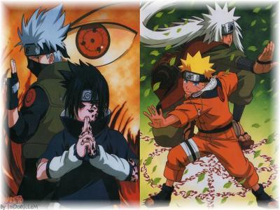 kakashi sasuke et naruto jiraya