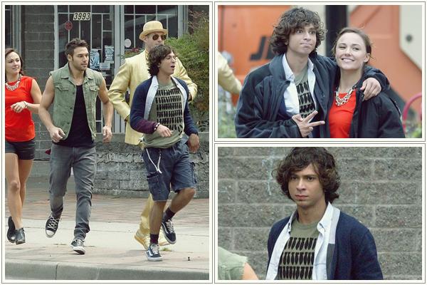 19.09.2013 - Adam a été aperçu sur le set de Step Up 5 à Vancouver (Canada) avec sa co-star Ryan Guzman