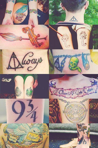 Les tatouages Harry Potter