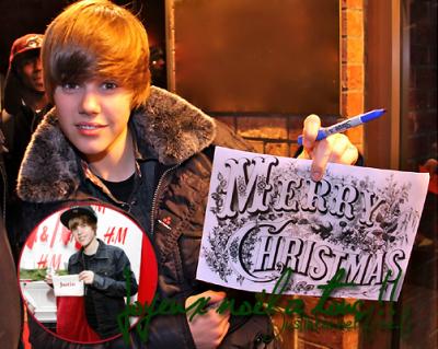 Justin & Moi nous vous souhaitons Un Merveilleux Noel & une belle Année ! <3