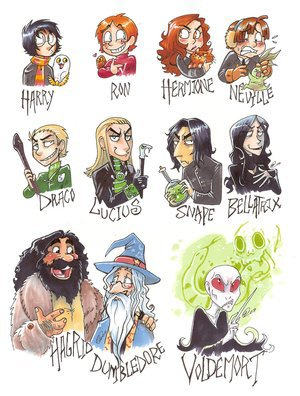 Dessin Harry Potter : Personnages !