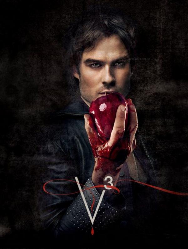 . The Vampire Diaries :  Voici une nouvelle photo promotionnelle de Damon ainsi qu'une nouvelle vidéo promotionnelle de la troisième saison.