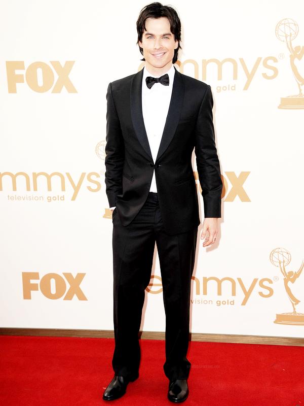 . 18 Septembre : Ian aux côtés de la belle Nina, était présent au 63rd Primetime Emmy Awards..