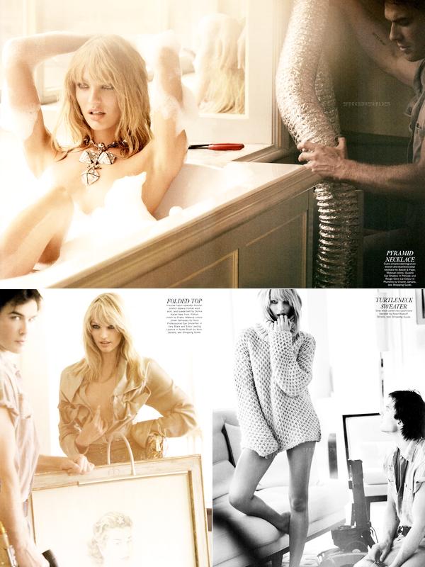 """. Scans : Ian apparaît dans le magazine """"Allure"""", photografié par Mario Testino. ."""
