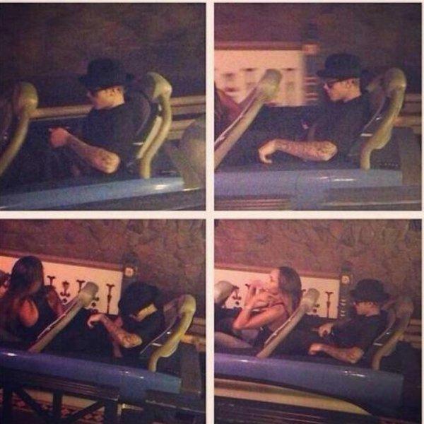 Justin Bieber à Disneyland en compagnie d'une mystérieuse jeune fille, une photo dévoilée