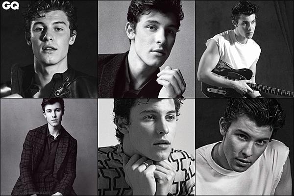 .  Shawn Mendes fait la couverture du célèbre magazine masculin GQ Italia!    .