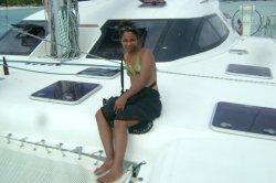sur le catamaran a maurice