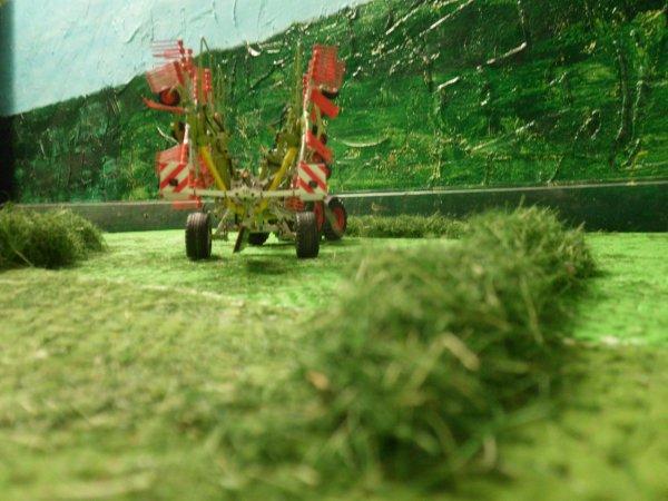 andainage pour les foins par l entreprise agricole marschalle