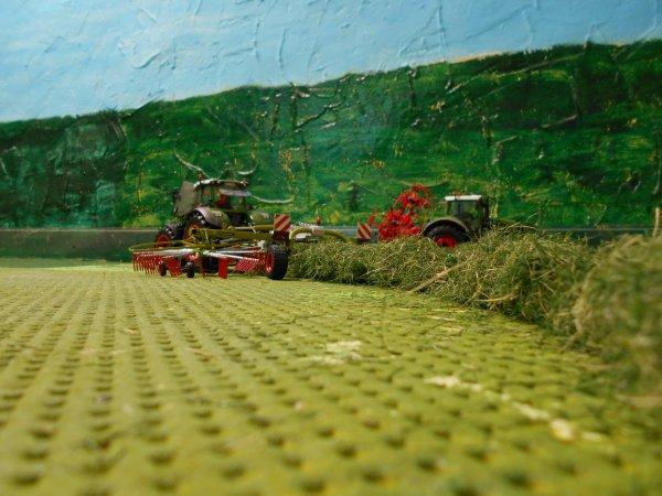 andainage et pressage pour les foins par l entreprise agricole marschalle