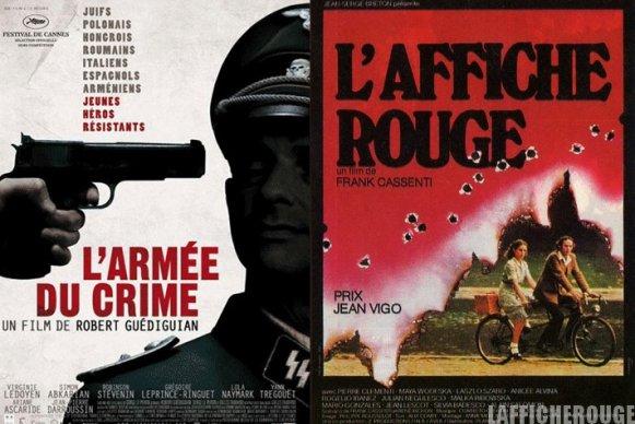 """Coté Cinéma : """" L'Armée du crime """" de Robert Guédiguian (2009)  & """" L'affiche rouge """" de Frank Cassenti (1975)"""