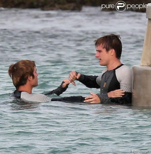 tournage de Catching Fire!!