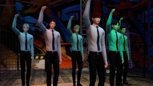 BTS 'Dope' Sims 4